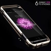 Luxury Ultra Thin Slim 0.7 Screw Metal Aluminum Hard Bumper Frame Case Blade Sword Cleave Cover For iPhone 6 Plus 4.7 5.5 cm mm