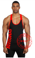 2015 cotton fitness clothes Gym bodybuilding tank top men Sleeveless sport tops Casual world of tanks brand tracksuits men vest