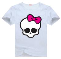 Monster High Skullette Tee t shirt for toddler kids children  Boy Girl t shirt cartoon t-shirt
