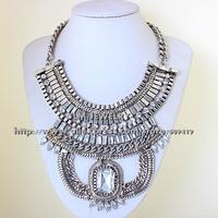fashion jewelry for women 2014 choker collar chunky vintage bib turkish boho crystal statement Necklaces & pendants LM-SC941