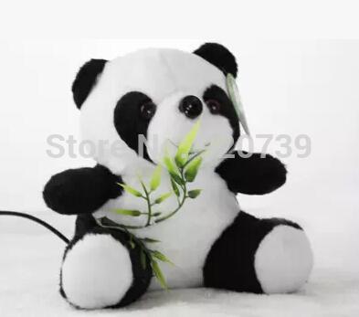 Creative of plush panda doll HD camera-free drive built-in microphone USB PC Video Head(China (Mainland))