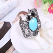 Wholesale Fashion Trendy Retro Owls Type Coil  Bracelets Handmade Turquoise Bracelet Free Shipping(China (Mainland))