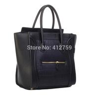 2014 New Women Handbag Vintage Smiley Face Bags Large Designer Hadnbag Fashion Women Shoulder Bag PU Women Leather Tote Casual