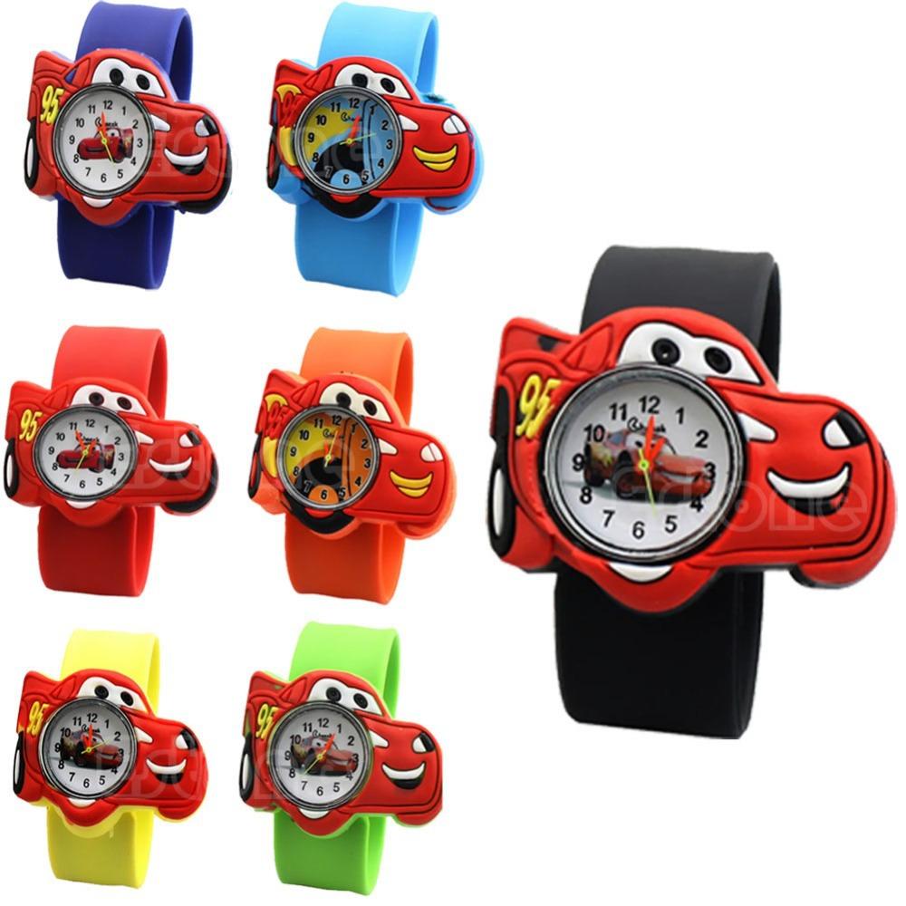 Z101 Cute Cartoon Car Unisex Children Bendable Rubber Strap Quartz Sports Wrist Watch free shipping