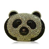 Panda Rhinestone Custom Female carteira feminina 2015 Valentine Day Women Clutch Bag Famous Brand Factory Direct bolsa de franja