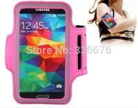 wholesale durable PU Sport Armband Case with Earphone Hole Key Pocket for Samsung Galaxy S5 G900 /S IV i9500 / S III i9300