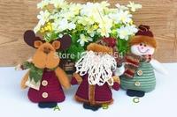 Free Shipping 10pcs Mini Hanger dolls Hanging ornament christmas tree christmas decoration Xmas Tree baubles New Year's toy36170
