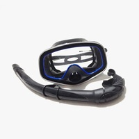 100% silicone snorkeling full face spearfishing diving mask set kit swimming pool sport  MS24619