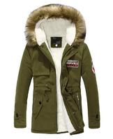 New 2014 Unisex Men's Winter Warm Jacket Plush Hooded Fur Lining For Lovers Women Winter Coat Jacket Thickening Long Parka