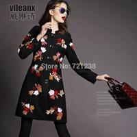 2014 Autumn Winter Women's  coat  new style european woollen overcoat woolen cloth coat discount sales promotion J037