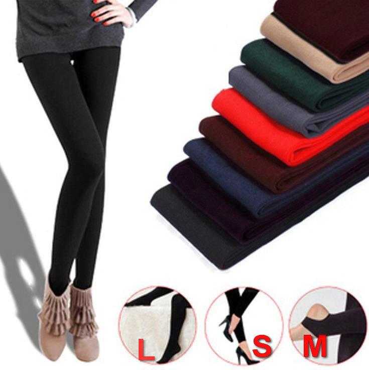 Neeka Women Warm Winter Faux Velvet Legging Knitted Thick Slim ankle-length mid polyester Leggings Super Elastic Free Shipping(China (Mainland))
