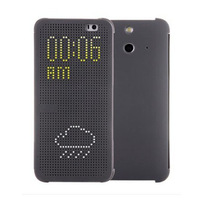 Selljimshop Ultra Thin Dot View Flip Leather Case Cover for 2014 HTC One E8