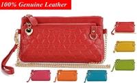 2014 New Crocodile Genuine Leather Women Day Clutch Geometric printed Handbags Chain Shoulder Bag Women Clutch BH-35 Free Shipp