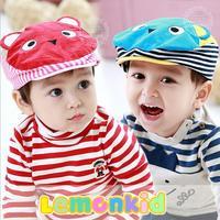 2014 New lemonkid Autumn winter Children Cap Cotton Cartoon 3D Bear Kids Berets hats 1-3Y 24024#