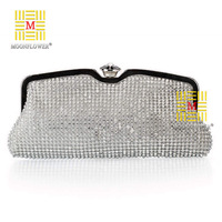 Free Shipping 2014 New Women's Luxurious Diamond Evening Bags Full Rhinestone Day Clutches Luxury Handbag Black Golden Sliver