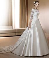 Ivory/White Off the Shoulder Sleeves Long Lace Wedding Dresses Bridal Gowns Vestidos de Novia Custom Made 2014