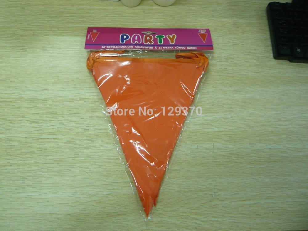 Triangle Decorative Flags Orange Color Triangle Flag