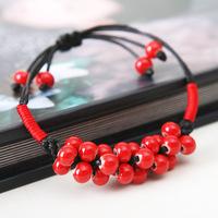 Bracelets & Bangles charm hand made ceramic bead jewelry charm wholesale specialty candy bracelet