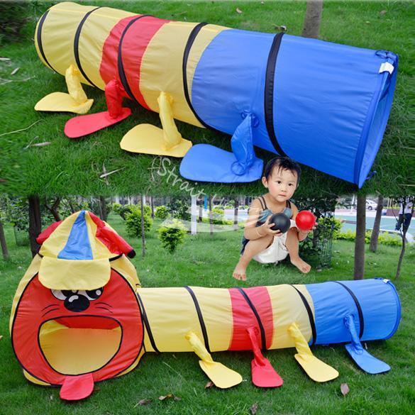 Crianças crianças menina menino portátil colorido Game Room túnel Design jogue Big Tent Toy Playhouse for Children(China (Mainland))