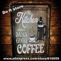 [ Do it ] Kitchen Coffee Metal Craft Bar Cafe Flat PUB Retro Paintings Decor 20*30 CM AB-131