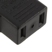 1 pcs EU Plug Adapter 2 Pin to Socket Input EU 2 Round Pin Plug AC 2.5V~250V 10A
