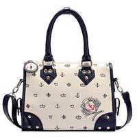 New 2014 Women Handbag Fashion Baguette Desigual Bag Preppy Navy Style Hobo Women Messenger Bags Ladies Totes