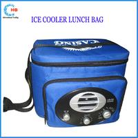 2015 hot sale radio cooler lunch food bag