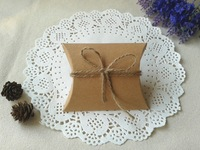 """Free Shipping 50  Wedding Gift Box  Baby Shower Party Favor Boxes Kraft Pillow  10x8.5cm(4""""x3.3"""")"""