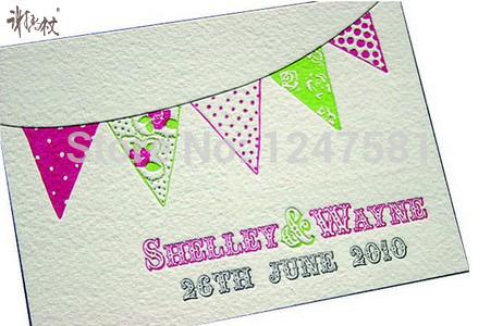 OEM Custom recycled sweet design invitation greeting cards(China (Mainland))