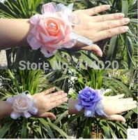 Wholesale 10pcs PE Foam Boutonniere Wedding Bride Bridegroom Wrist Flower Sister Flower 5 Colors 10*8CM