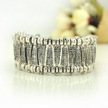 Горячая распродажа винтаж тибетского серебра цыганский любовь резьба браслеты ретро ...