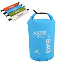 5L Portable Ultralight Outdoor Camping Travel Rafting Waterproof Dry Bag Swimming Travel Kits Orange/White/Green/Blue(China (Mainland))