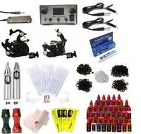 Free Shipping Pro Tattoo Kit 2 Machine Gun Equipment Set w/ Power Supply 40 Ink Colors