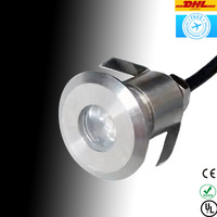 Free Shipping 12 Volt 1x3W 42mm 304 Stainless Steel Housing Waterproof Led Outdoor Lamp Underground Paving Light
