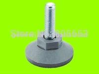 Plastic adjustable cabinet feet / leveler leg / leg glide black M8x20x30mm +  (AF2511)