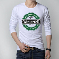 Game of Thrones T Shirts Men House Stark of Winterfell Wolf Blood Winter Coming Mens Shirt A Song of Ice and Fire Man Tees Tops