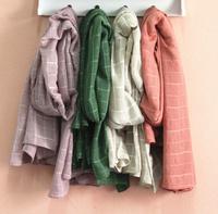 Female Plaid Scarf Fashion Elegant tassel scarf Cotton scarf wraps for women as Christmas Gift to Friends