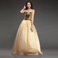 New Fashion Jewelry alumni rally celebrations school social activities homecoming Off Shoulder Golden Sequined