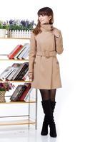 ON Sale promotion 2014 autumn and winter wool coat woolen outerwear women's medium-long cashmere overcoat  Cheap HOT