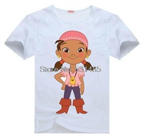 Jake and the Neverland Pirate Izzy Tee t shirt for toddler kids children  Boy Girl t shirt cartoon t-shirt
