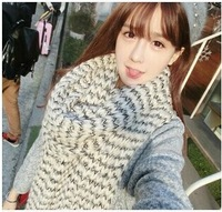 Free transportation mohair scarf Korean winter new long thick knitted wool scarf shawl dual lovers