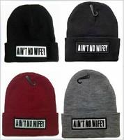 Hot Brand Cheap AIN'T NO WIFEY Beanies Autumn Winter Wool Knitted Men Women Caps Casual Skullies Hip-hop London Girl Boy