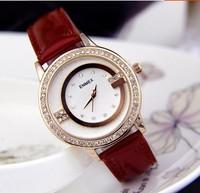 New Fashion 5 colors Hot Brand WoMen Dress Watch Ladies Rhinestone Casual Bracelet Analog Quartz wristwatch Christmas gift