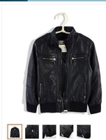 Children's wear the spring and autumn period and the new children's leather coat boys leisure leather jacket