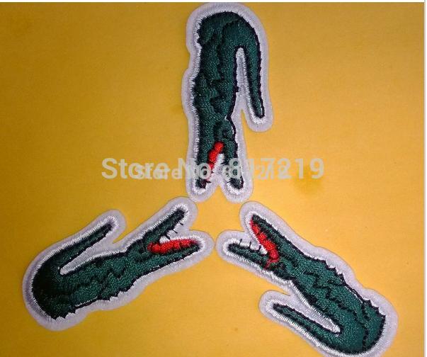 fabric label, Crocodile alligator labels 150+ big size 4.5*2cm 60pcs crocodile iron on patches(China (Mainland))