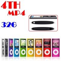 "by post 1pc hot sale 32GB Slim 1.8"" 4th LCD Christmas MP4 Player FM Radio Video 9 COLORS"