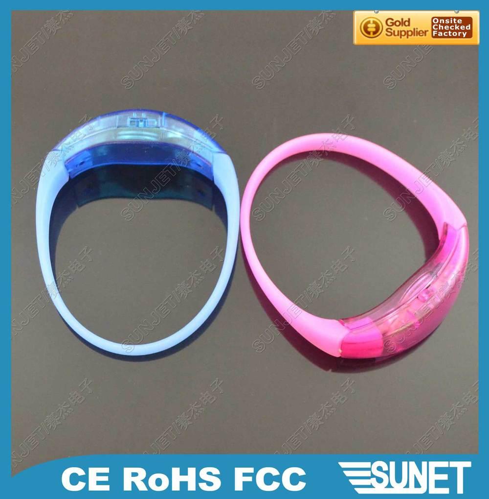[ Factory outlets ] luminescent / luminous LED flashing jewelry bracelet bracelet Silicone bracelet / wristband(China (Mainland))