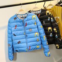 Fashion Women's European style leisure suit jacket coat cotton jacket zipper jacket cotton padded jacket women coat 110313