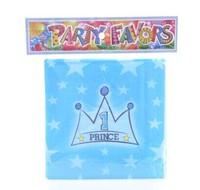 Children's Birthday Party Supplies Dinner Utensils Cartoon crown Paper Napkin Handkerchief Towels Tissue