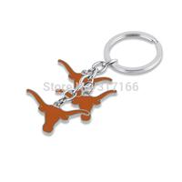 sport key chain fashion new enamel single-sided the University of Texas longhorns pendant keychains jewelry